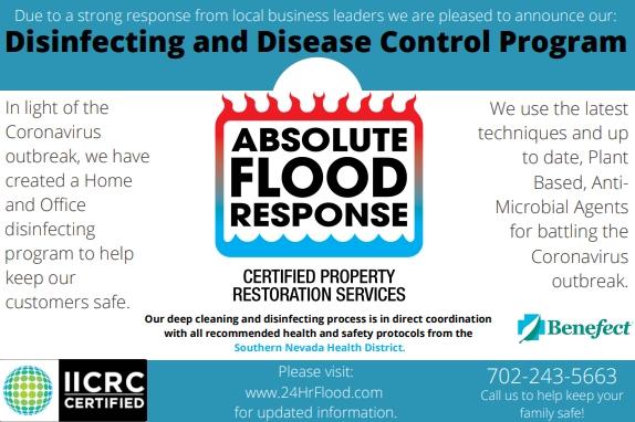 coronavirus cleaning disinfecting company las vegas nevada